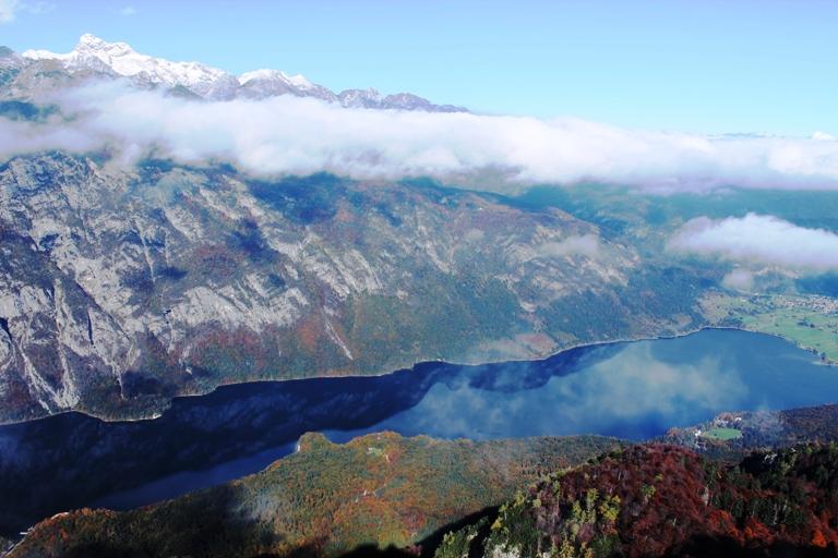 Bohinjsko jezero, pogled s Vogela