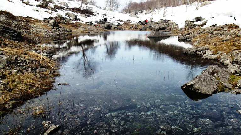 Periodično jezerce pored izvora Morače