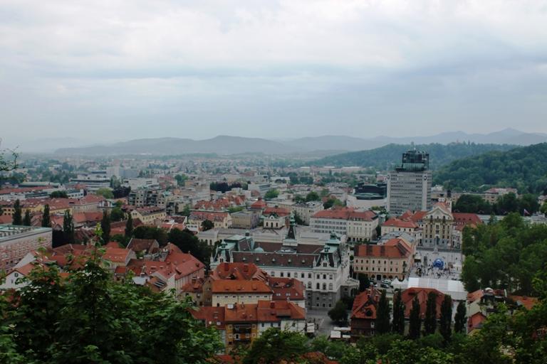 Ljubljana gledana sa Starog grada