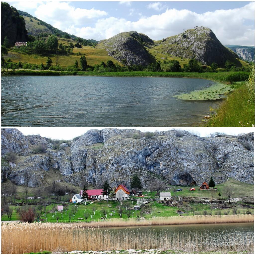 Pošcensko jezero i selo Pošcenje