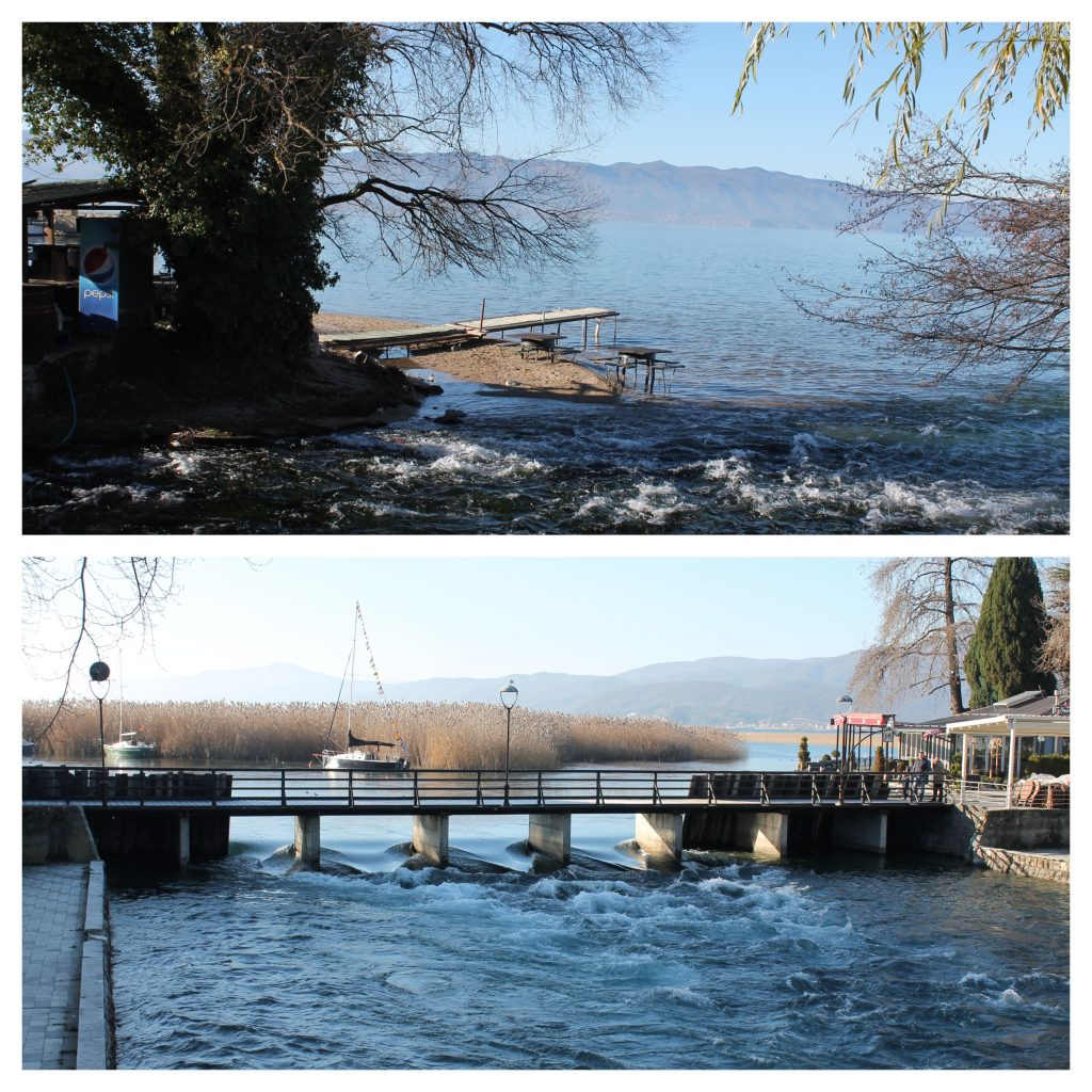 Crni Drim (mjesta gdje uvire i odakle izvire iz Ohridskog jezera)