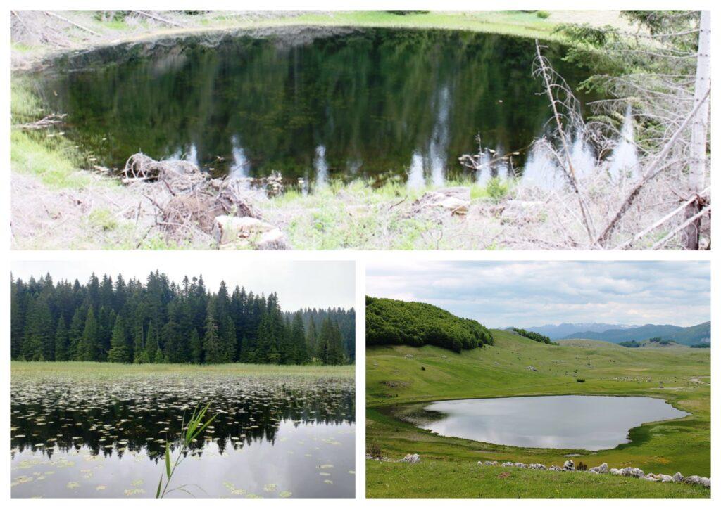 Goveđe, Barno i Pošćensko jezero