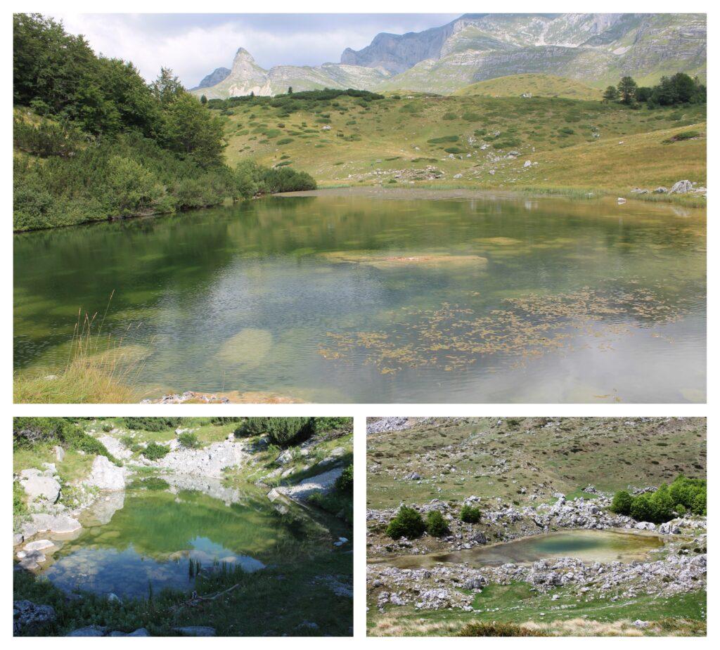 Modro, Srablje i Valovito jezero