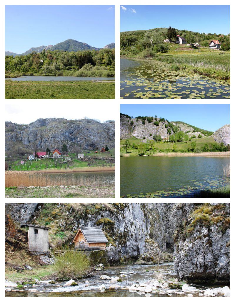 Malo i Veliko Pošćensko jezero i ulaz u kanjon Nevidio